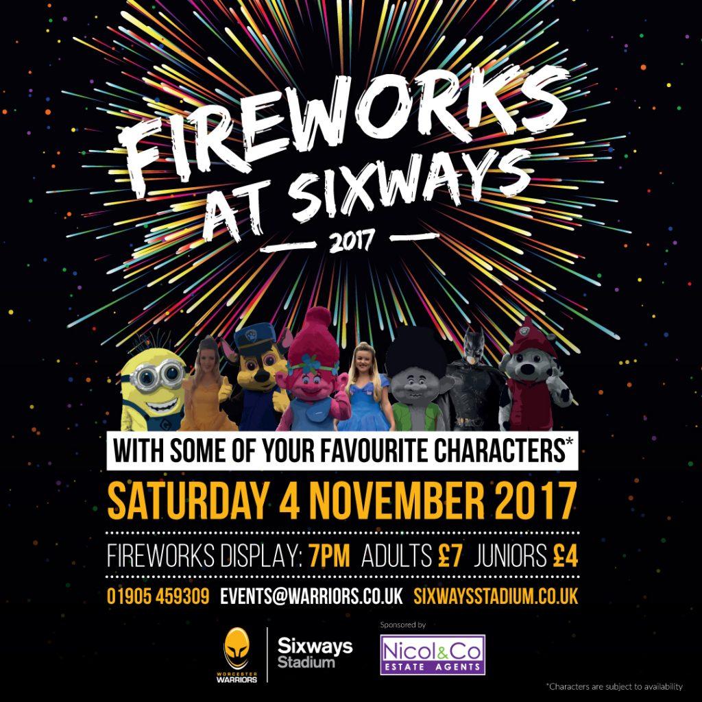 Warriors New Stadium Update: Fireworks Display Worcester Warriors 2017
